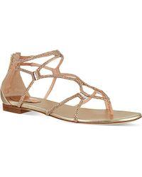 Rene Caovilla Fleur Embellished Sandals - For Women - Lyst