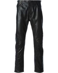 Maison Martin Margiela Slim Leather Trousers - Lyst