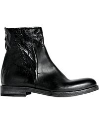 Sartori Gold - Wrinkled Leather Zipped Boots - Lyst