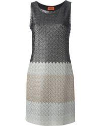 Missoni Zigzag Knit Sweater Dress - Lyst
