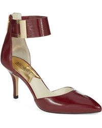 Michael by Michael Kors Red Guiliana Heels - Lyst