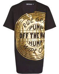 House of Holland Black Foil Motif Band T-shirt
