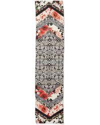 Roberto Cavalli Florallace Patchwork Scarf - Lyst