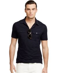 Ralph Lauren Black Label Military Polo Shirt - Lyst