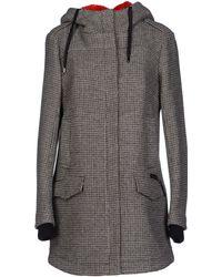 C'n'c' Costume National Gray Coat - Lyst