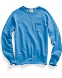 Todd Snyder X Champion Pocket Sweatshirt In Ocean - Lyst
