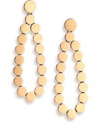 John Hardy | Dot 18k Yellow Gold & Sterling Silver Teardrop Earrings | Lyst