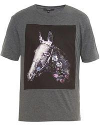 Gucci Flora Horse-Print Cotton T-Shirt - Lyst
