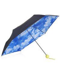 TOPSHOP Cloud Print Umbrella - Blue