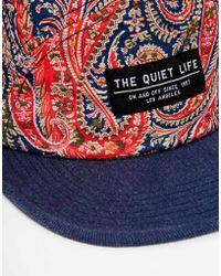The Quiet Life X Liberty Paisley 5 Panel Cap - Blue