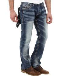 Affliction Ace Standard V Jean in Ruler Wash - Blue