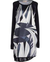 Emilio Pucci Short Dress blue - Lyst