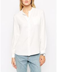 Bethnals - Vic Grandad Casual Shirt With Round Collar - Lyst