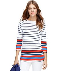 Brooks Brothers Supima Cotton Boatneck Sweater - Lyst
