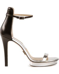 Michael Kors Silver Doris Sandals - Lyst