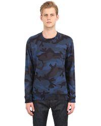 Valentino Camo Printed Cotton Sweatshirt - Lyst