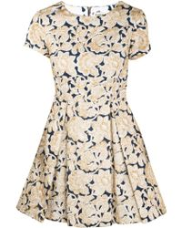 Suno Blue And Gold Embroidery Dress - Lyst