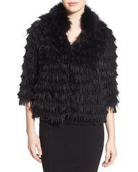 Tasha Tarno   Genuine Silver Fox Fur Fringe Jacket   Lyst