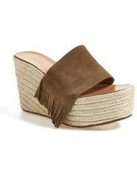 Chloé 'Estel' Platform Wedge Sandal - Lyst