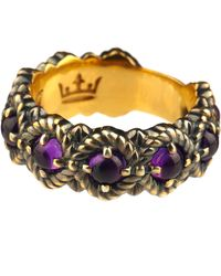 Queensbee - Bubbles Ring Middle Amethyst - Lyst