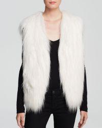 Guess Vest  Draped Faux Fur - Lyst