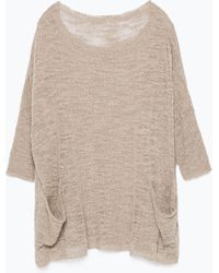 Zara Sweater With Large Pockets - Lyst