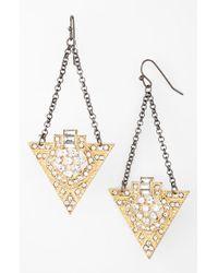 Panacea Art Deco Drop Earrings - Lyst