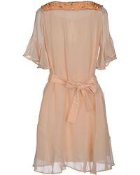 Divina Short Dress orange - Lyst