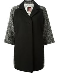Isola Marras - Herringbone-Print Wool-Blend Coat - Lyst