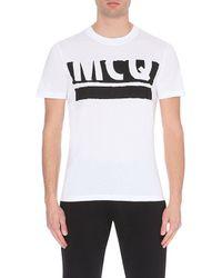 McQ by Alexander McQueen Logo-Print Cotton T-Shirt - For Men white - Lyst