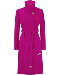 Ted Baker Nevia Belted Wrap Coat - Lyst