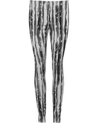 Donna Karan - Jacquard Slim Leg Trousers - Lyst