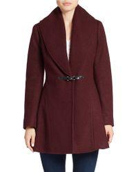 Kensie - Fit-and-flare Wool-blend Coat - Lyst