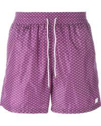 Ferragamo Alligator Print Swim Shorts - Pink