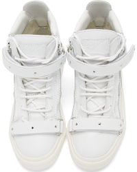 Giuseppe Zanotti White Monochrome London Donna Birel Sneakers - Lyst