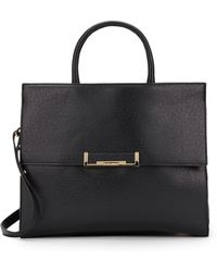 Ivanka Trump Heather Faux Leather Top Handle Briefcase - Lyst