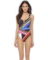 Preen Carter Swimsuit - Multi Rib Stripe - Lyst