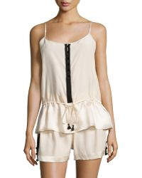 Carolina Herrera - Two-tone Pajama Set - Lyst
