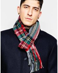 Minimum - Check Wool Scarf - Lyst