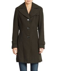 Kenneth Cole Reaction Military Style Dress Coat - Lyst