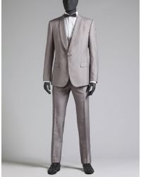 Dolce & Gabbana | Suit In Dyed Silk With Topstitching | Lyst