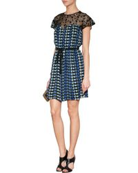 Anna Sui Dove and Star Print Dress - Lyst