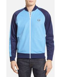 Fred Perry 'Retro Bomber Tricot' Extra Trim Fit Track Jacket - Lyst