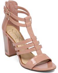 Jessica Simpson Jennisin Leather Heeled Sandals - Lyst