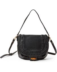 Big Buddha - Lorena Faux Leather Messenger Saddle Bag - Lyst