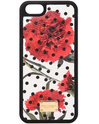 Dolce & Gabbana | Printed Dauphine Leather Iphone 5 Case | Lyst