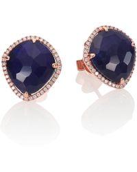 Meira T Sodalite, Diamond & 14K Rose Gold Stud Earrings pink - Lyst