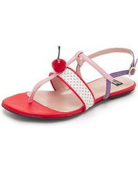 Boutique Moschino - Cherry Topped Sandals - Lyst