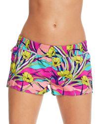 Roxy Printed Shorts - Lyst
