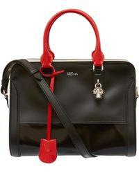 Alexander McQueen Black Zip Around Cross Body Leather Bag black - Lyst